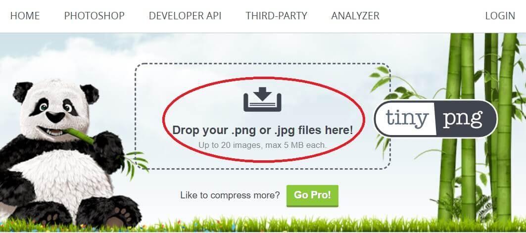 画像圧縮無料ソフト tiny png 使い方