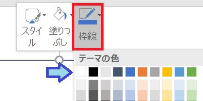 透過画像の合成方法 パワーポイントを利用、四角形の枠線を白に変更