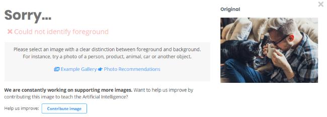 removebg使用例 難しい写真 エラーメッセージ