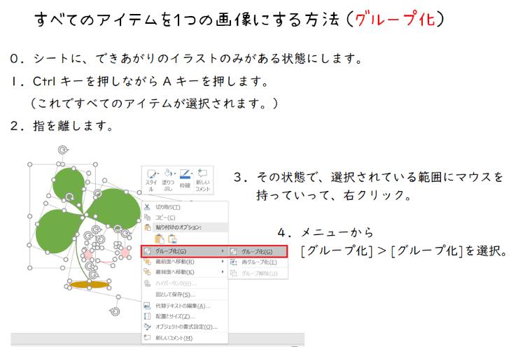 パワポ基本機能でプロフィールアイコン(アバター)作り、グループ化機能の使い方