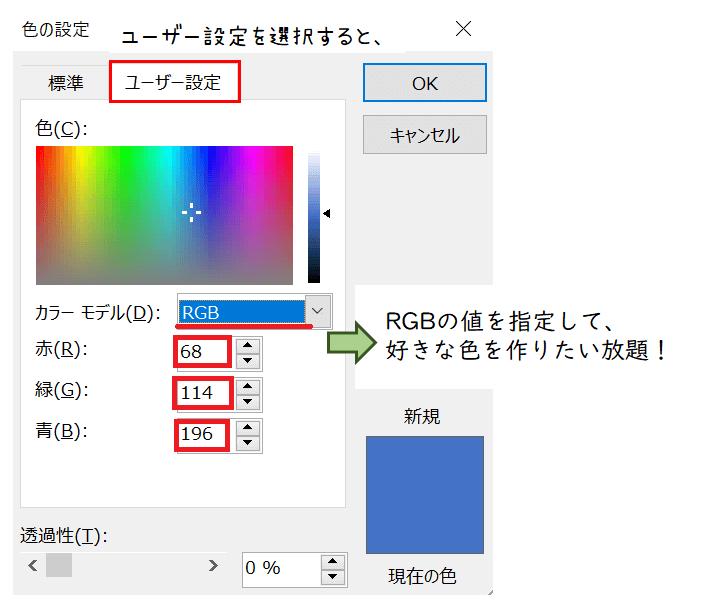 パワポ基本機能でプロフィールアイコン(アバター)作り、色の変え方