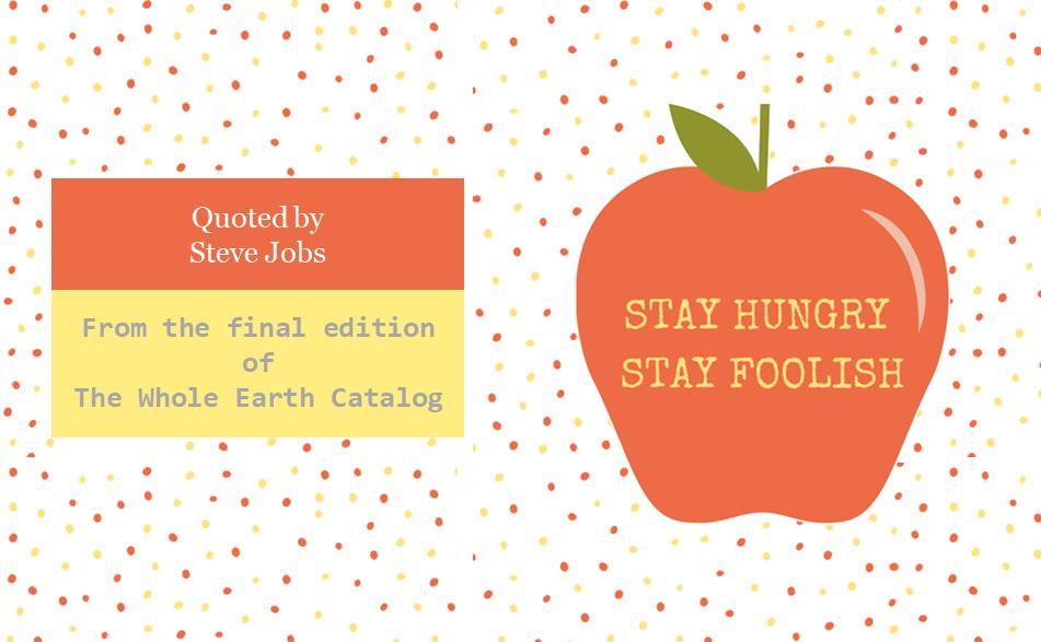 2020年3月 Stay hungry, Stay foolish