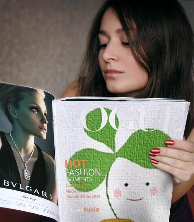 Photofunia使い方、使用例、雑誌の表紙