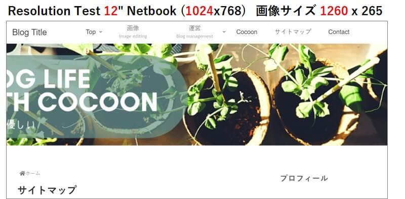"""Resolution Test 12"""" Netbook (1024x768)   画像サイズ 1260 x 265"""