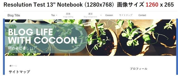 """Resolution Test 13"""" Notebook (1280x768)  画像サイズ 1260 x 265"""