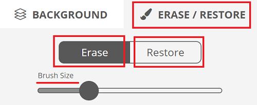removebg使用例 編集機能