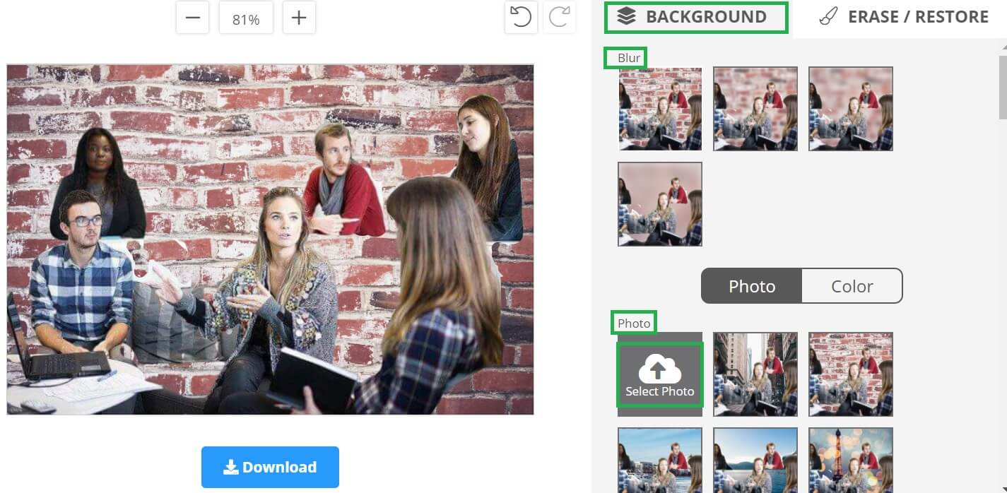 removebg使用例 背景の効果、挿入