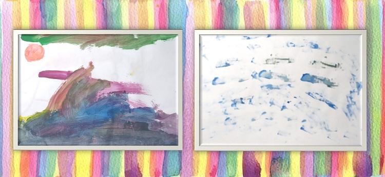 室内遊びアイディア、絵の具